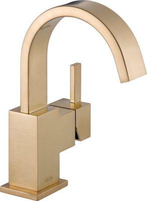 Delta Faucet 553LF-CZ Vero Single Handle Centerset Lavatory Faucet, Champagne Bronze