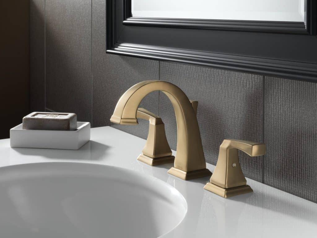 Delta Faucet 3551LF-CZ Dryden Two Handle Widespread Lavatory Faucet, Champagne Bronze