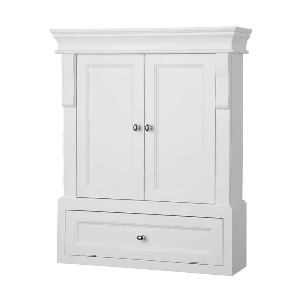 Foremost NAWO2633 Naples 26-12 Bathroom Wall Cabinet, White