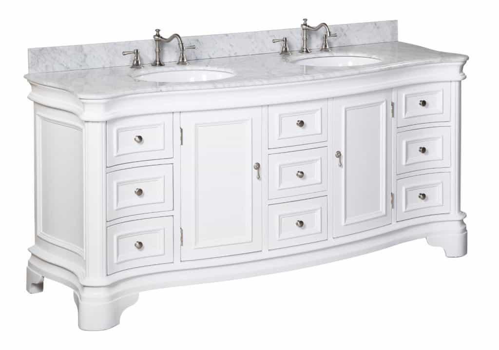 Katherine Bathroom Vanity with Marble Countertop