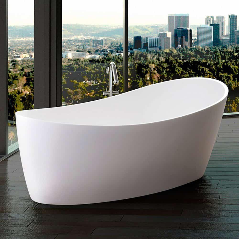 Modern Matte White Dune Ii Freestanding Bathtub