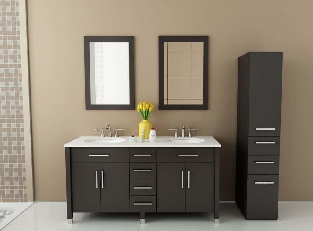 Rana Double Sink Modern Contemporary Bathroom Vanity Furniture Cabinet