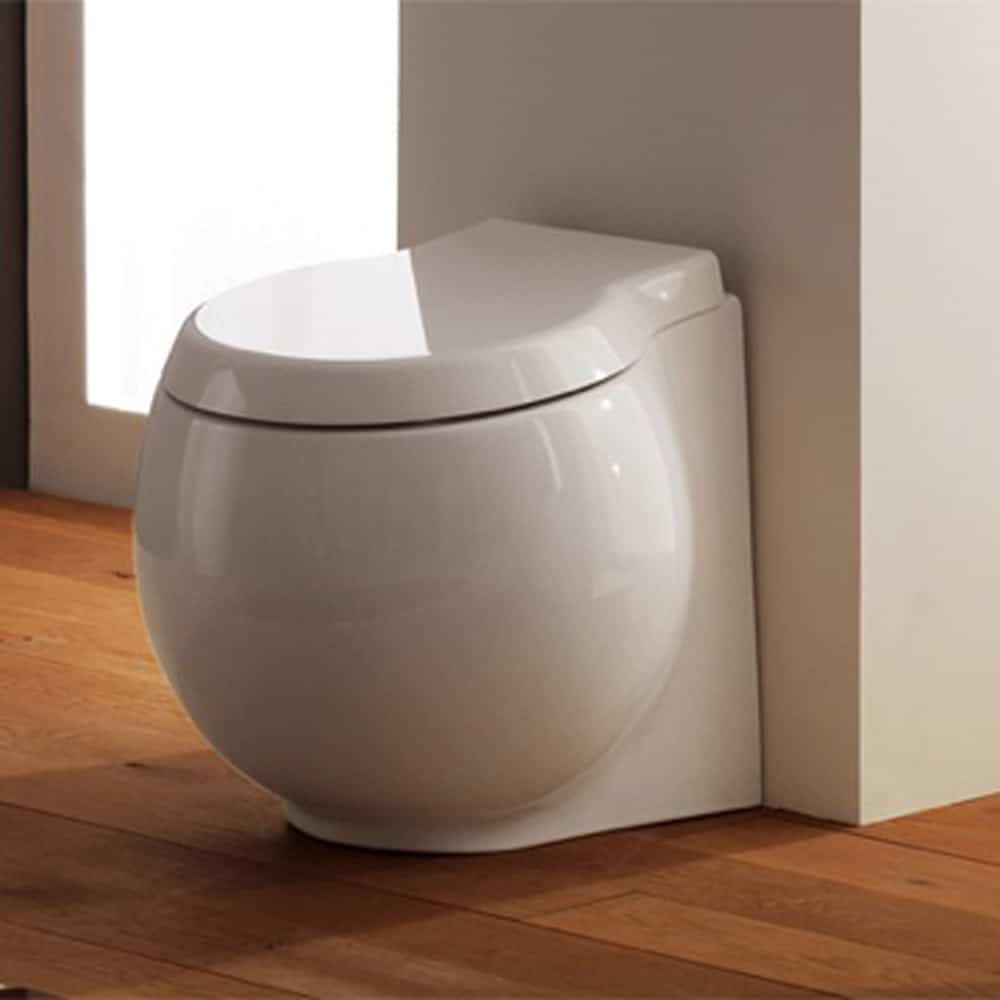 Scarabeo 8105AS Planet Scarabeo Ceramic Round Bowl Toilet
