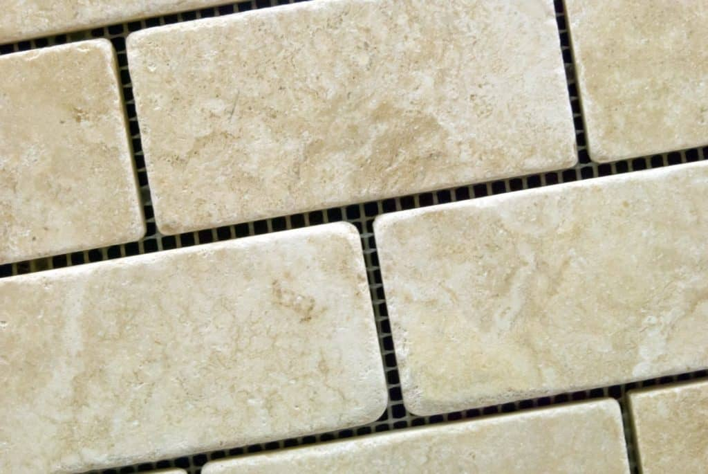 Durango Cream 2 X 4 Tumbled Travertine Brick Mosaic Tile