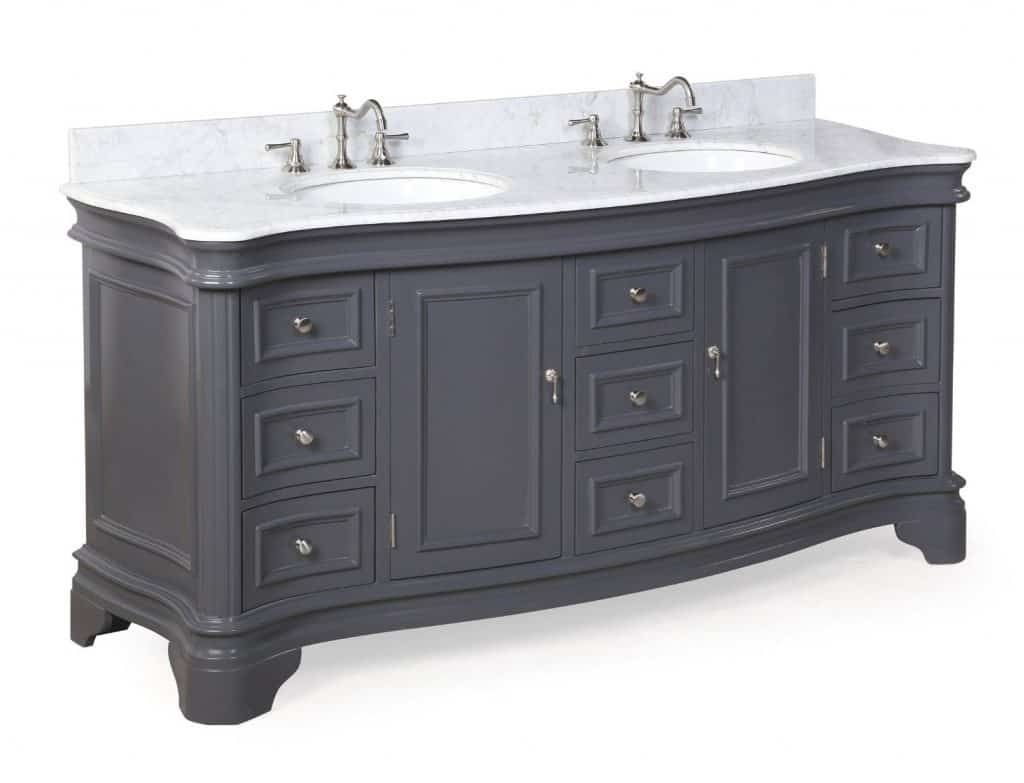 Katherine Bathroom Vanity with Marble Countertop, Cabinet with Soft Close Function and Undermount Ceramic Sink
