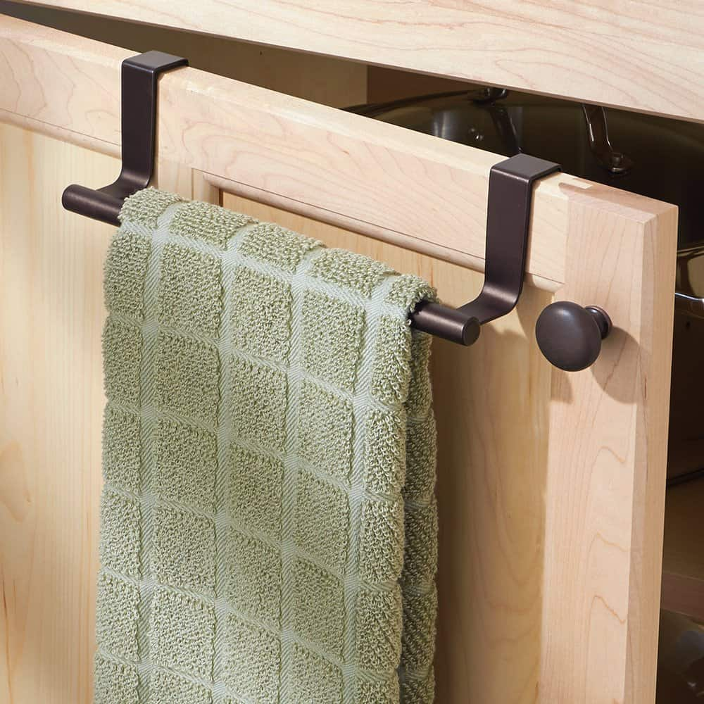 mDesign Over the Cabinet Towel Holder Bar