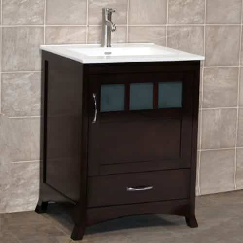 "24"" Bathroom Vanity Cabinet Ceramic Top Sink"