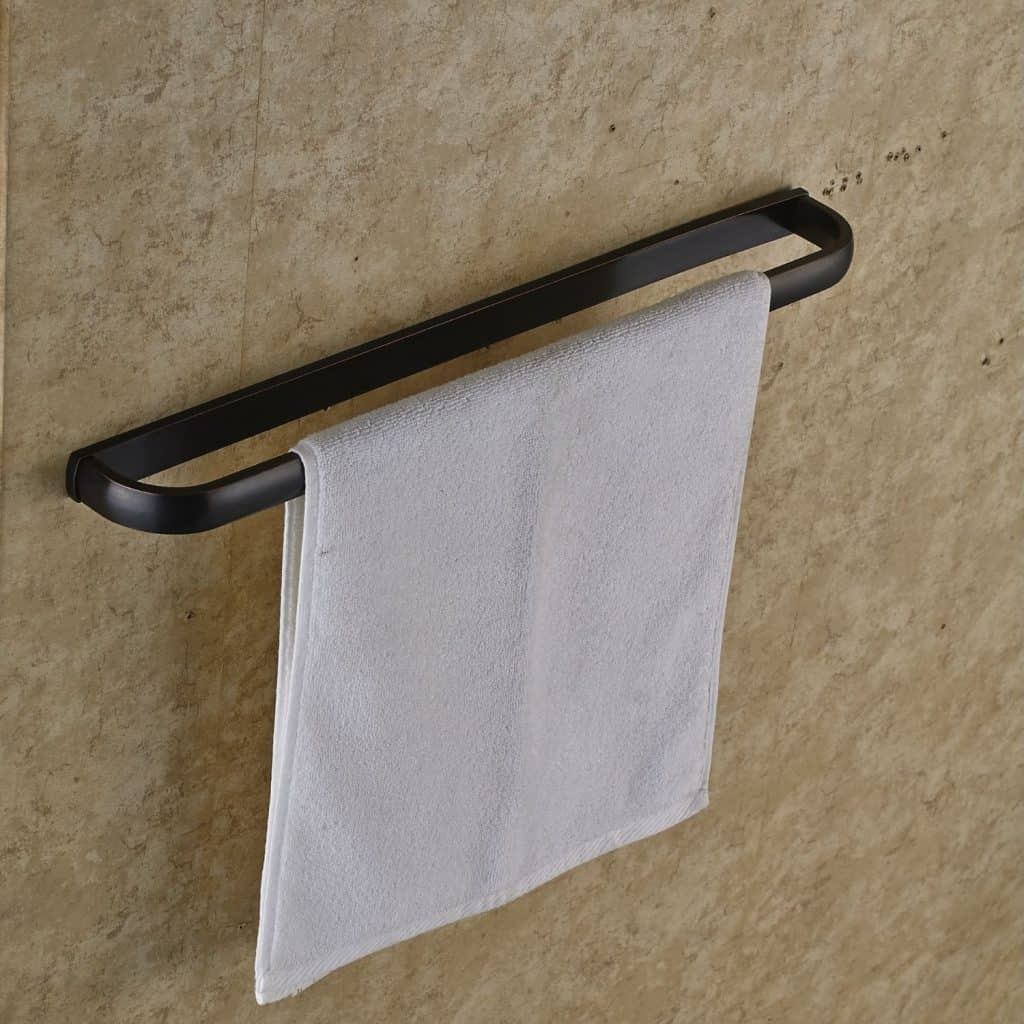 Rozin Oil Rubbed Bronze Single Towel Bar Wall Mounted Towel Rack
