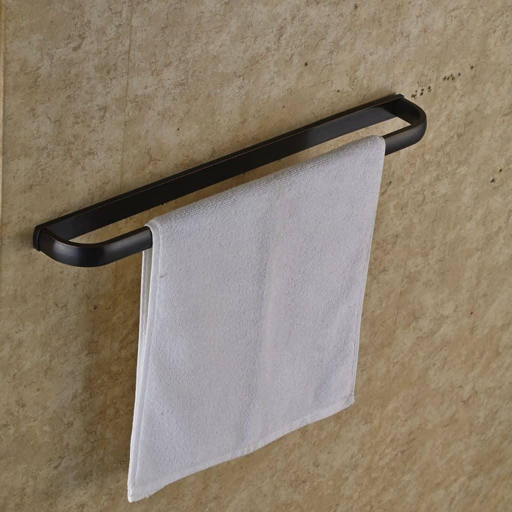 Rozin Oil Rubbed Bronze Single Towel Bar Wall Mounted Towel Rack