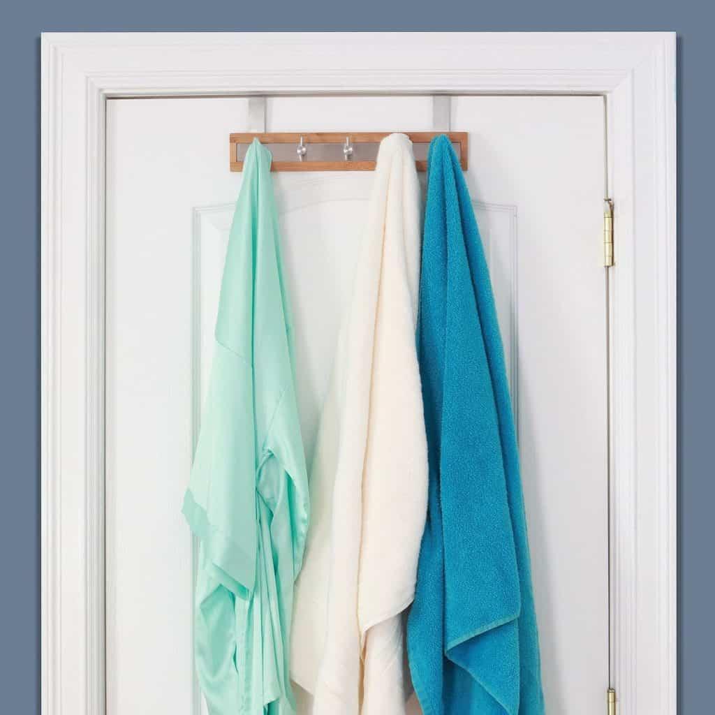Bamboo Stainless Steel Towel Door Hooks