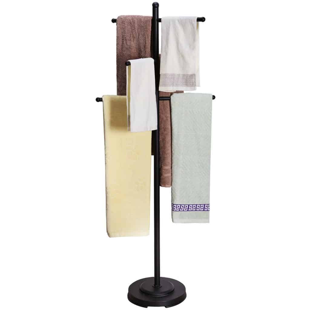 Freestanding 6 Towel Bars Bathroom Rack