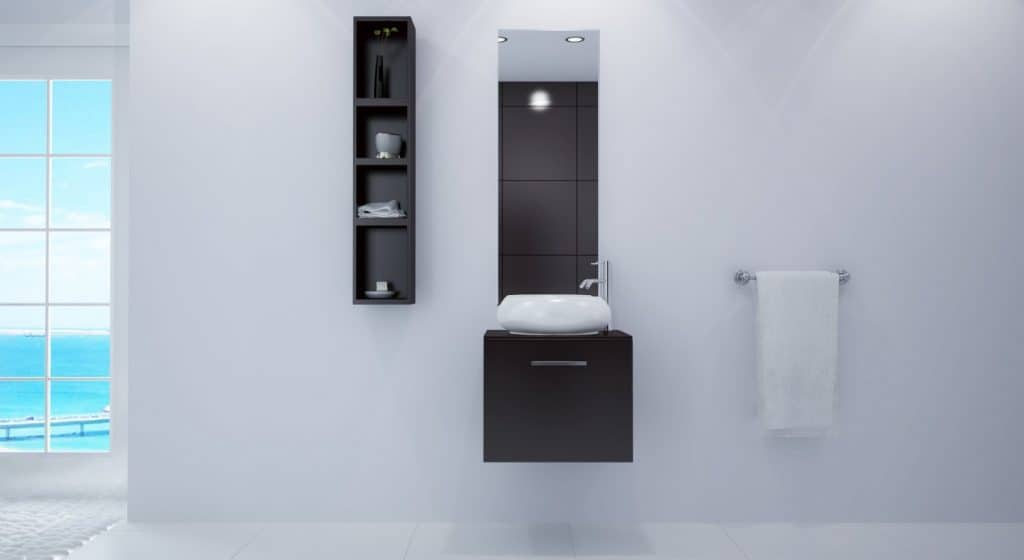 21.75 Orion Single Vessel Sink Wall Mounted Modern Contemporary Bathroom Vanity Furniture Cabinet