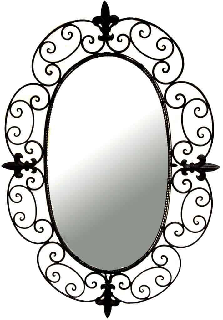 Ashton Sutton CH100197 Wall Mirror with Metal Frame