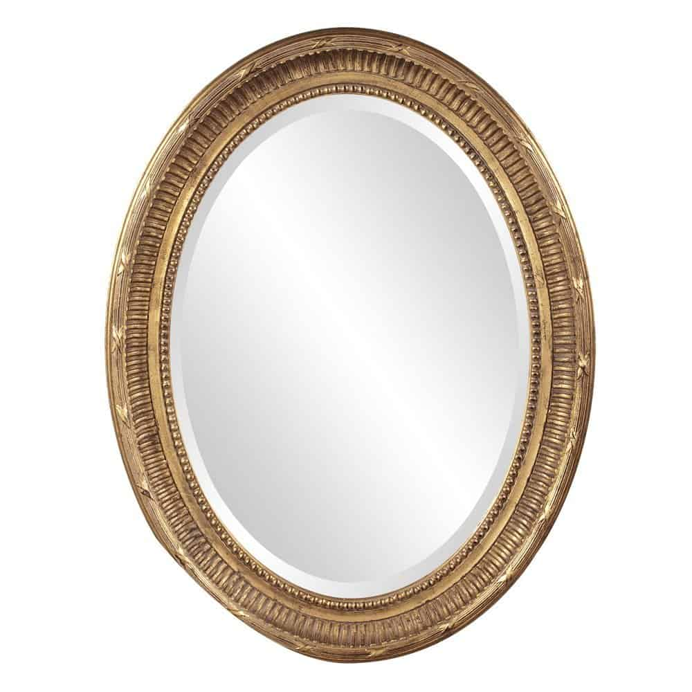Howard Elliott 56120 Nero Oval Mirror, Rich Country Gold