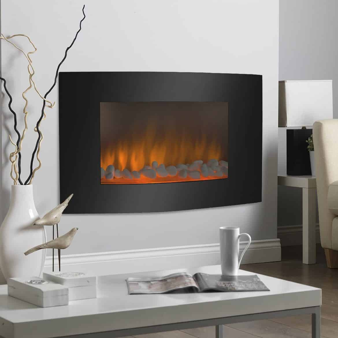 Best Choice Products Large 1500w Heat Adjule Electric Wall Mount Modern Fireplaces