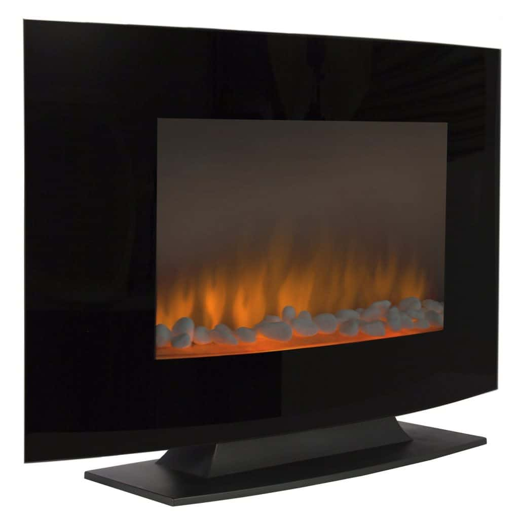 Best Choice Products Large 1500W Heat Adjustable Free Standing Fireplace Heater with Glass XL