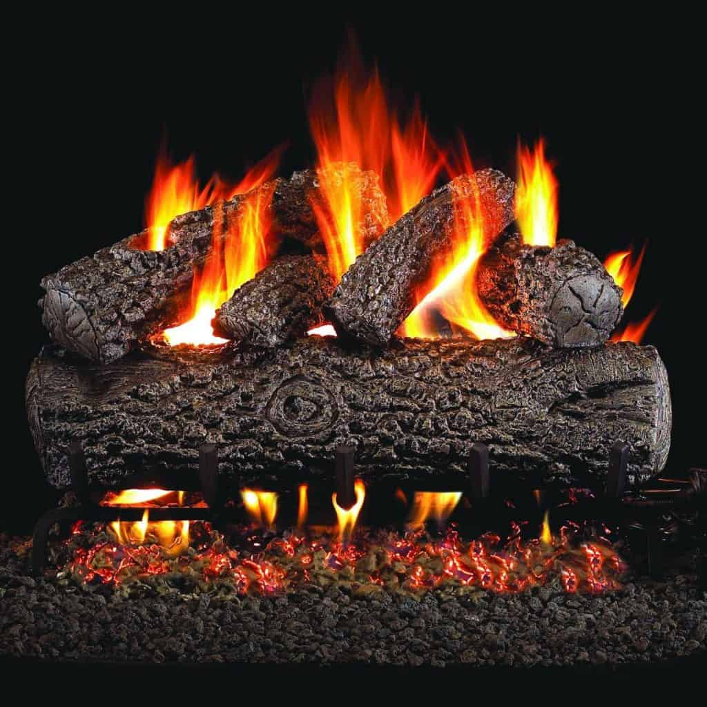 20 Fireplace Decorating Ideas with Gas Logs, Electric Logs, and ...