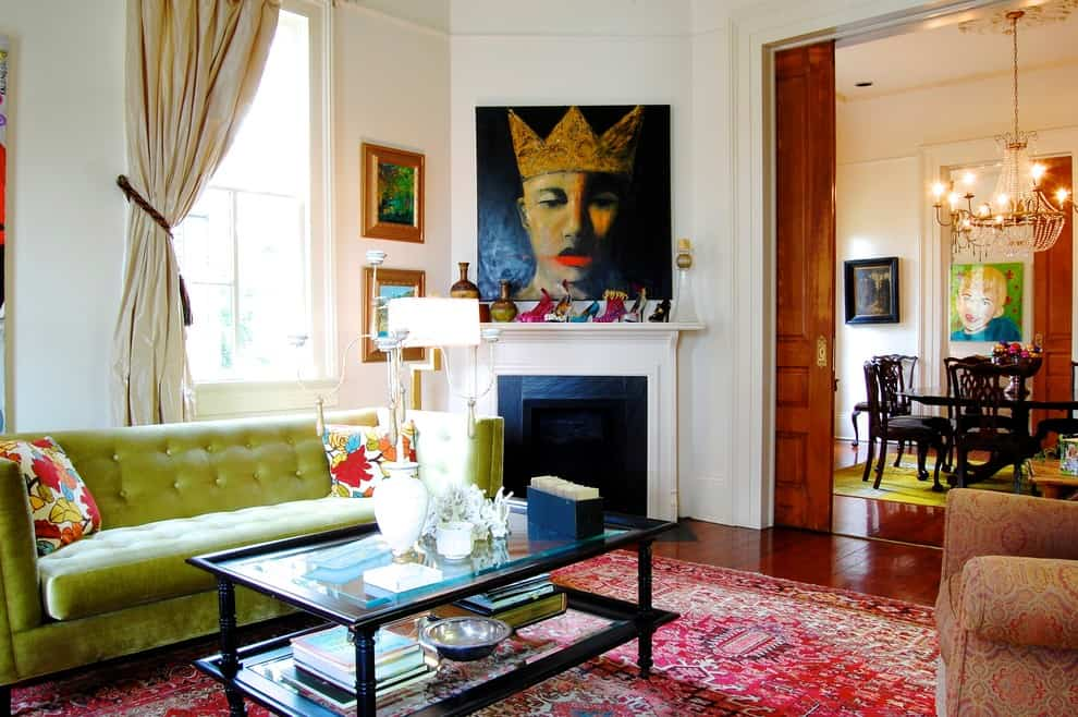 Mantel Decorating Idea - Art
