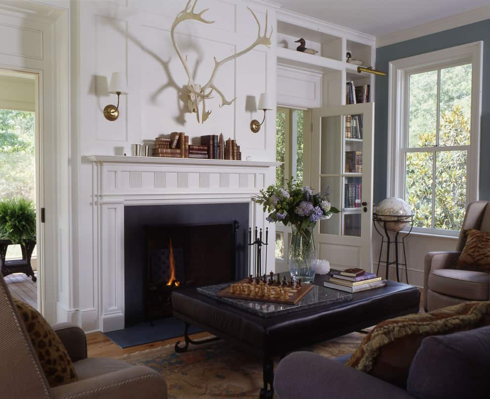 Mantel Decorating Idea - Books