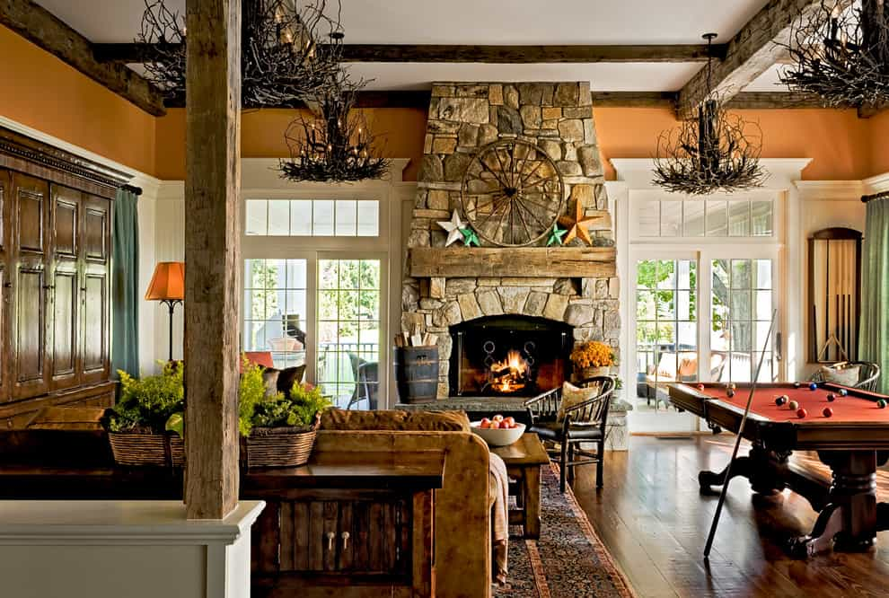 Mantel Decorating Idea - Rustic