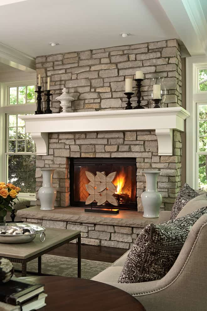 Mantel Decorating Idea - candles