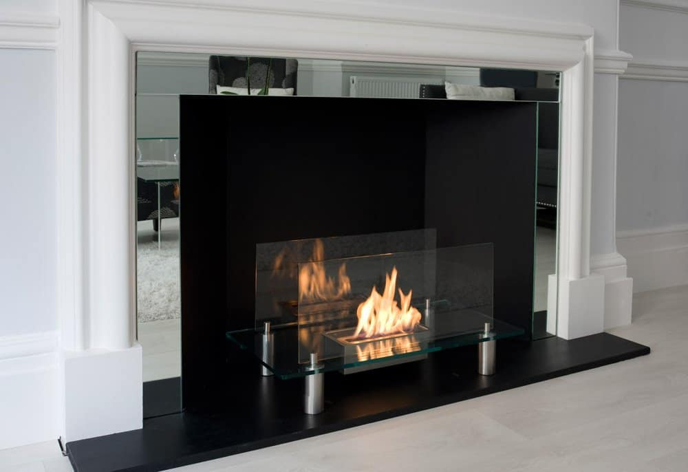 Moda Flame Baza Free Standing Floor Fireplace