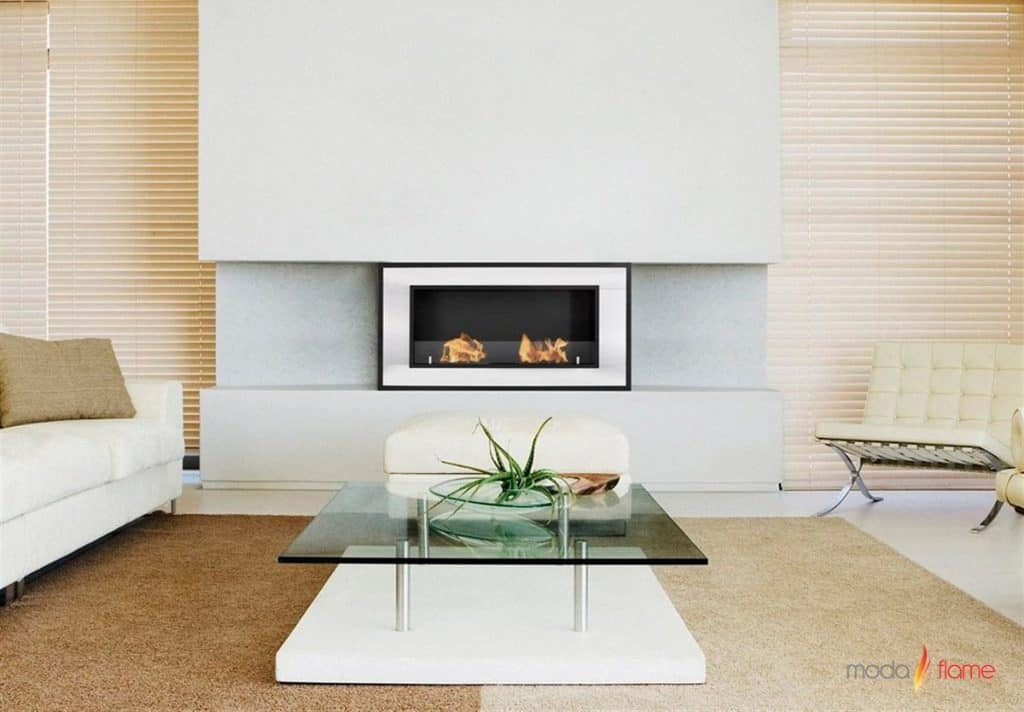 Moda Flame Lugo Wall Mounted Bio Ethanol Ventless Fireplace