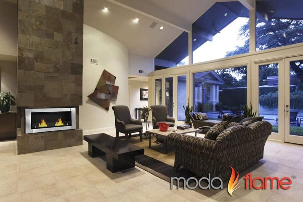 Moda Flame Valencia PRO Wall Mounted Ethanol Fireplace