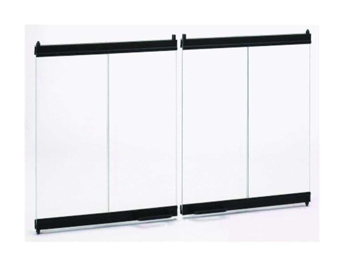 Comfort Flame BDB36B Wood Burning Aluminum Bi-Fold Door, 36-Inch, Brushed Brass