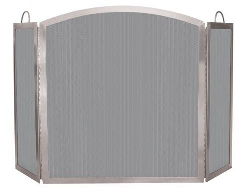 Import S-7700 3 Fold Stainless Steel Fire Screen