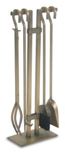 Pilgrim Home and Hearth 18086 Sinclair Tool Set, Burnished Brass
