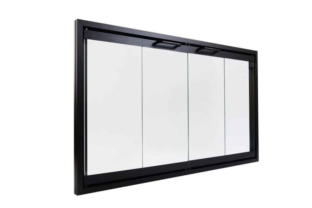 Superior Bi-Fold Glass Fireplace Door, Easy to Install, Stop Annoying Drafts and Lower Your Heating Bill
