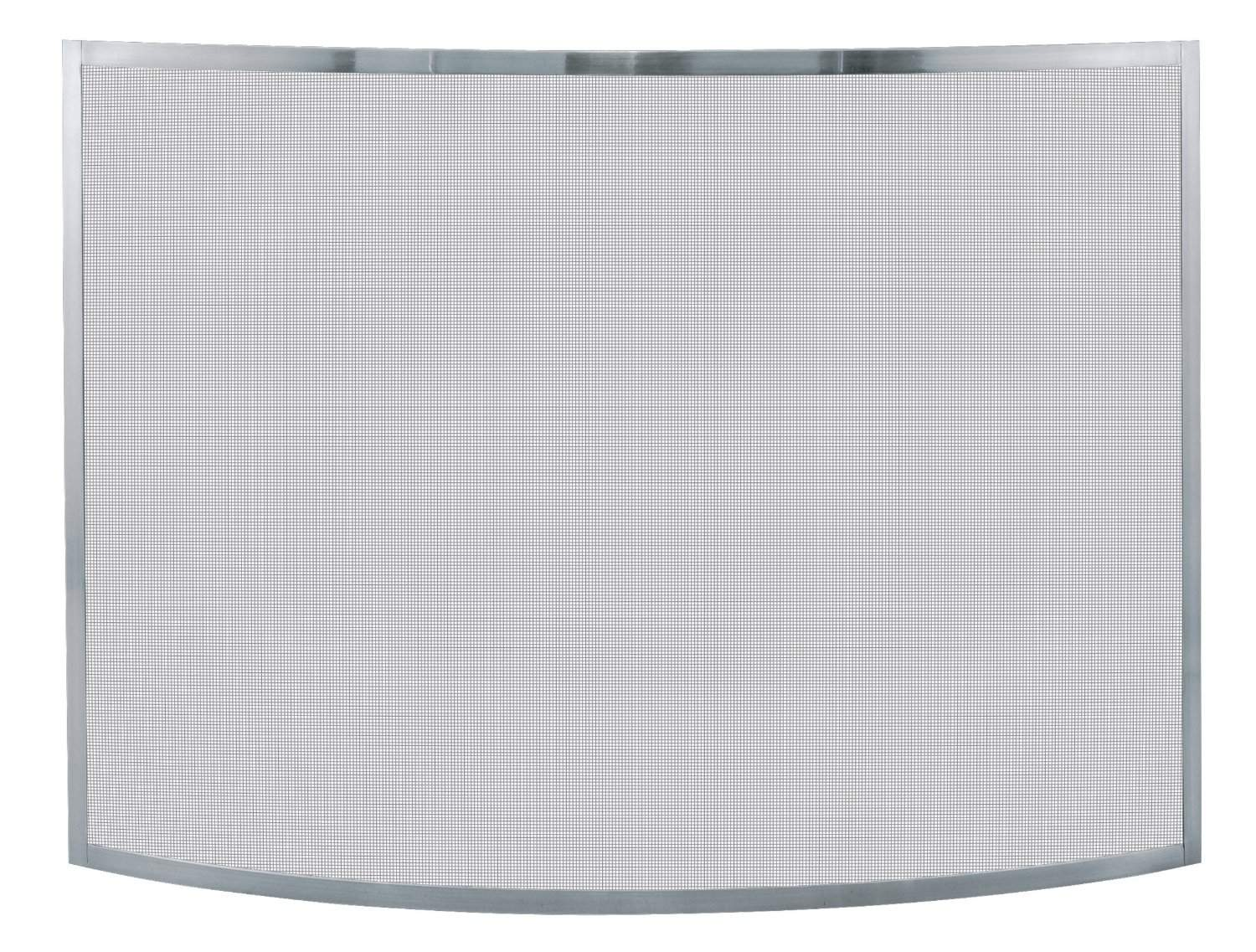 Uniflame, S-1613, Single Panel Curved Pewter Finish Screen