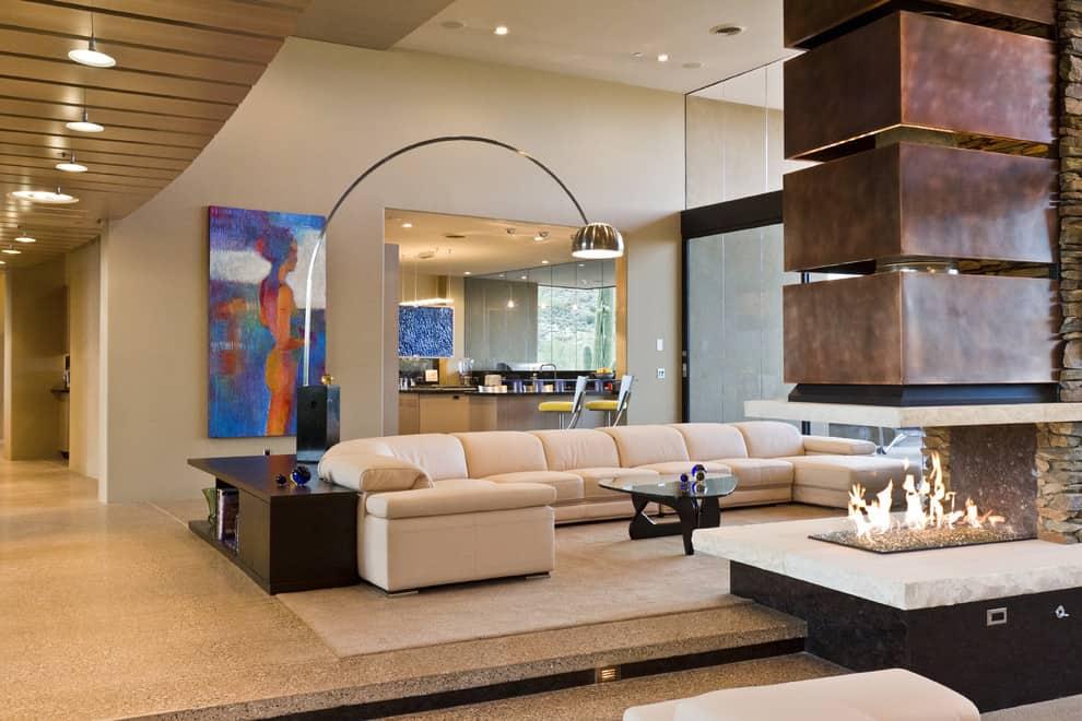 living room firepit