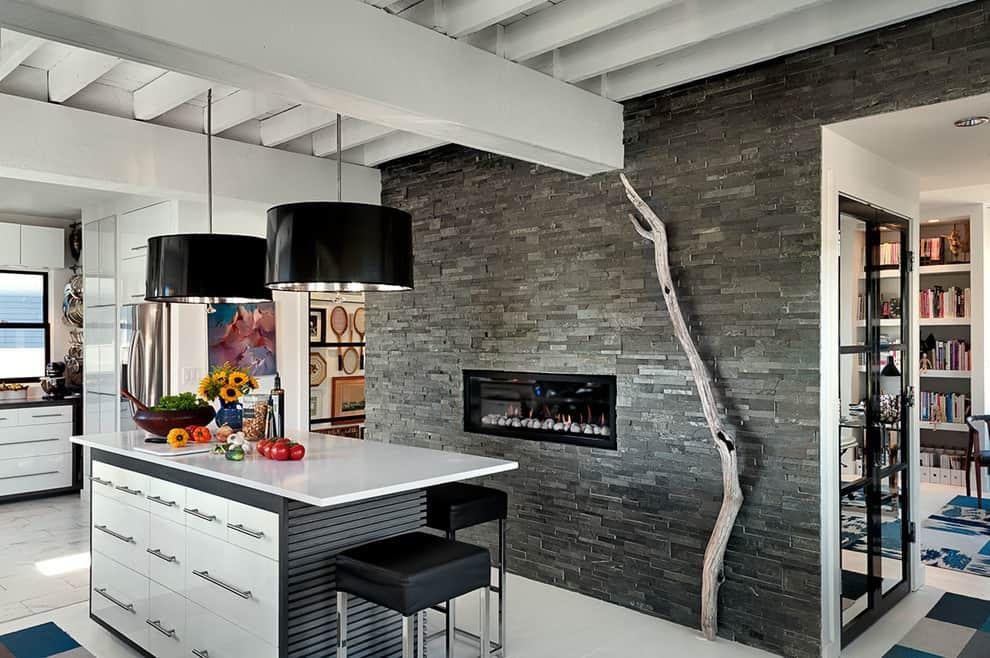 slate fireplace ideas