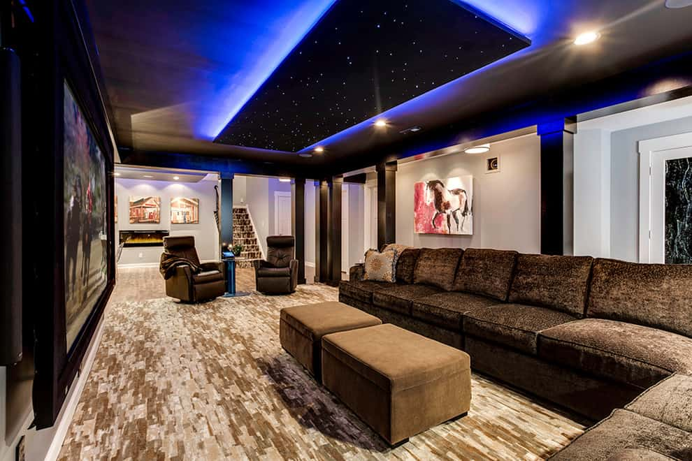 Starry Night Sky Basement Lighting Ideas