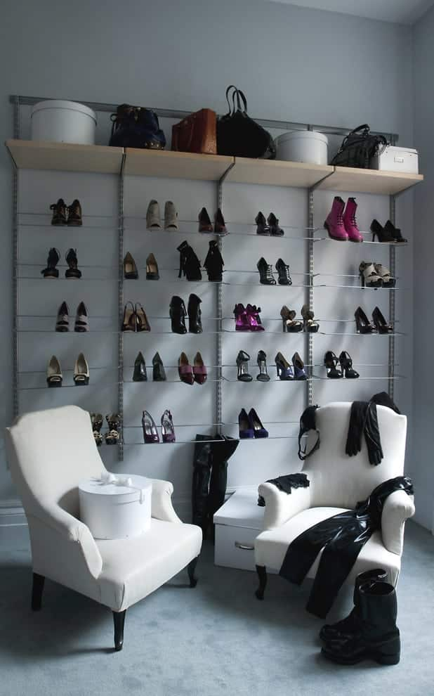 Closet Shoe Storage Display