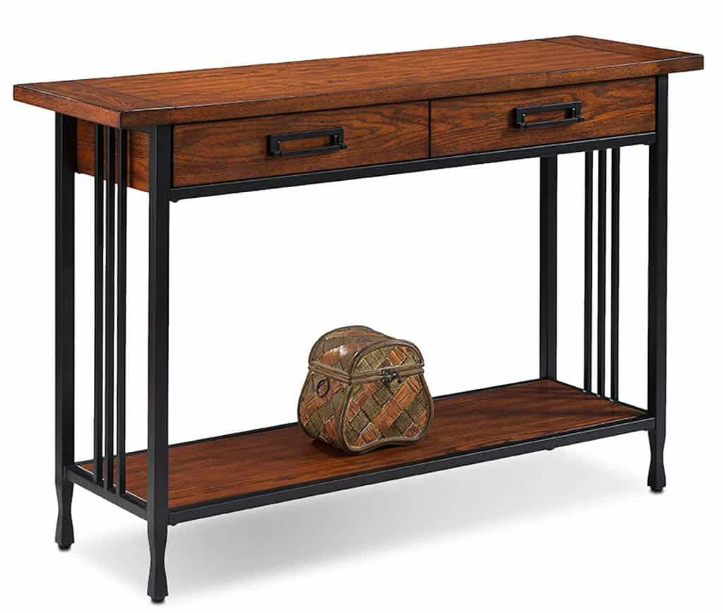 Metal Mission Oak Sofa Table