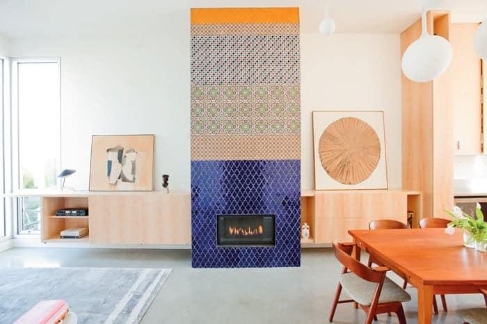 tiled fireplace ideas - Create A Work Of Art