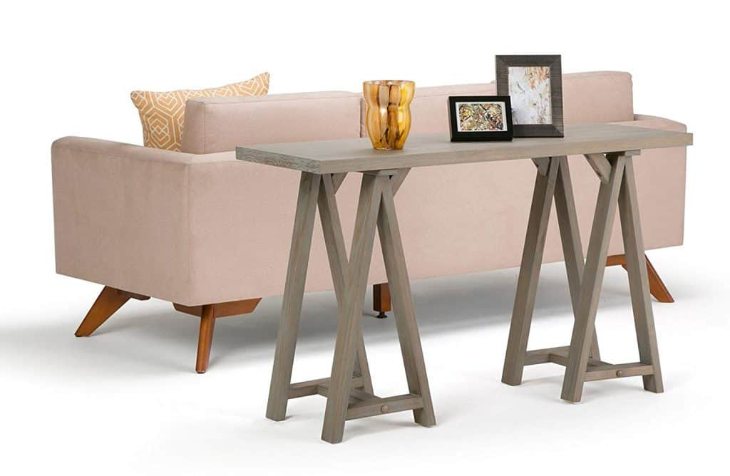 Modern Sawhorse Sofa Table