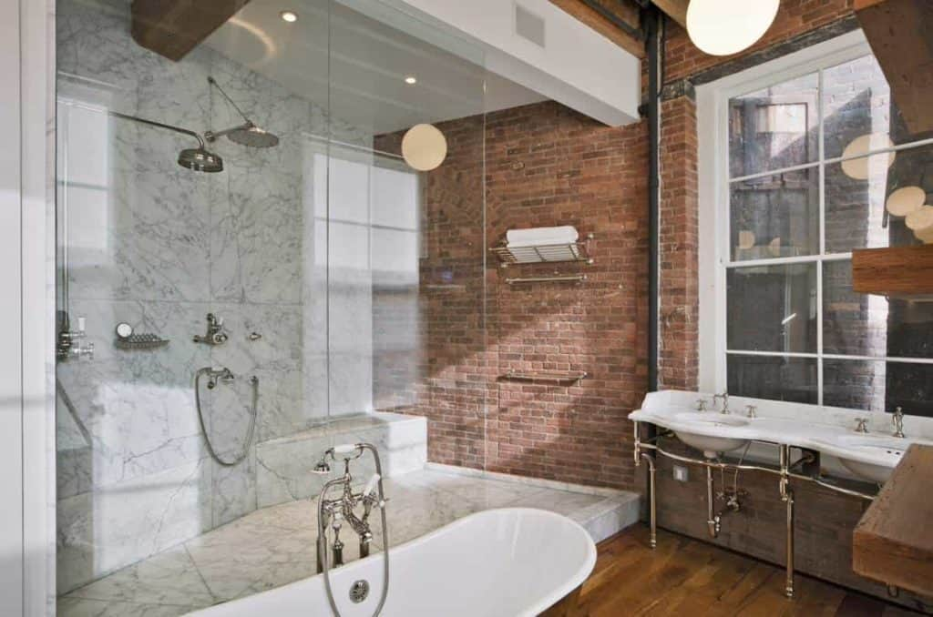 Urban Industrial Chic tile walk in shower