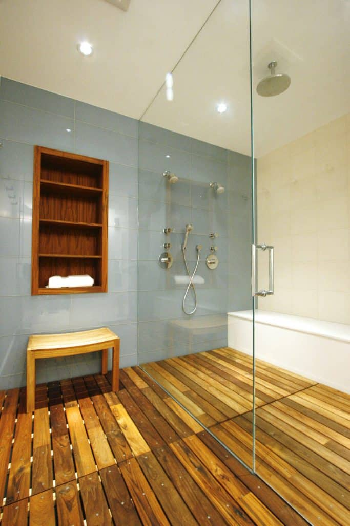 Built-in Inlay Bathroom Shelving Ideas