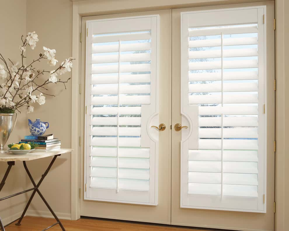 Shutters are one of the most popular French Door covering