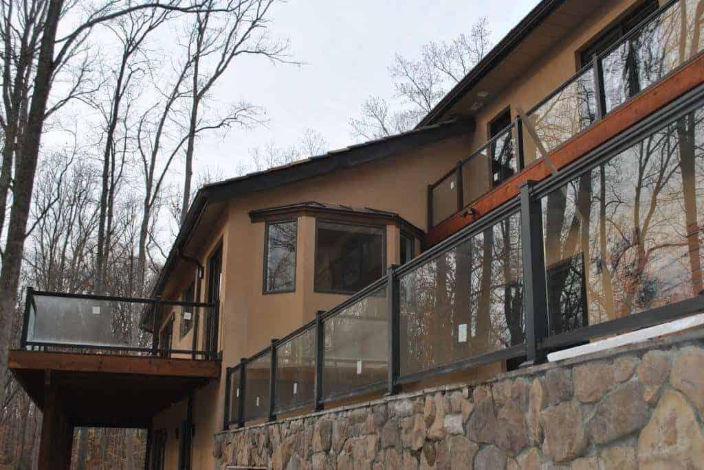 Glass Panel Railing Substitute Deck Railings