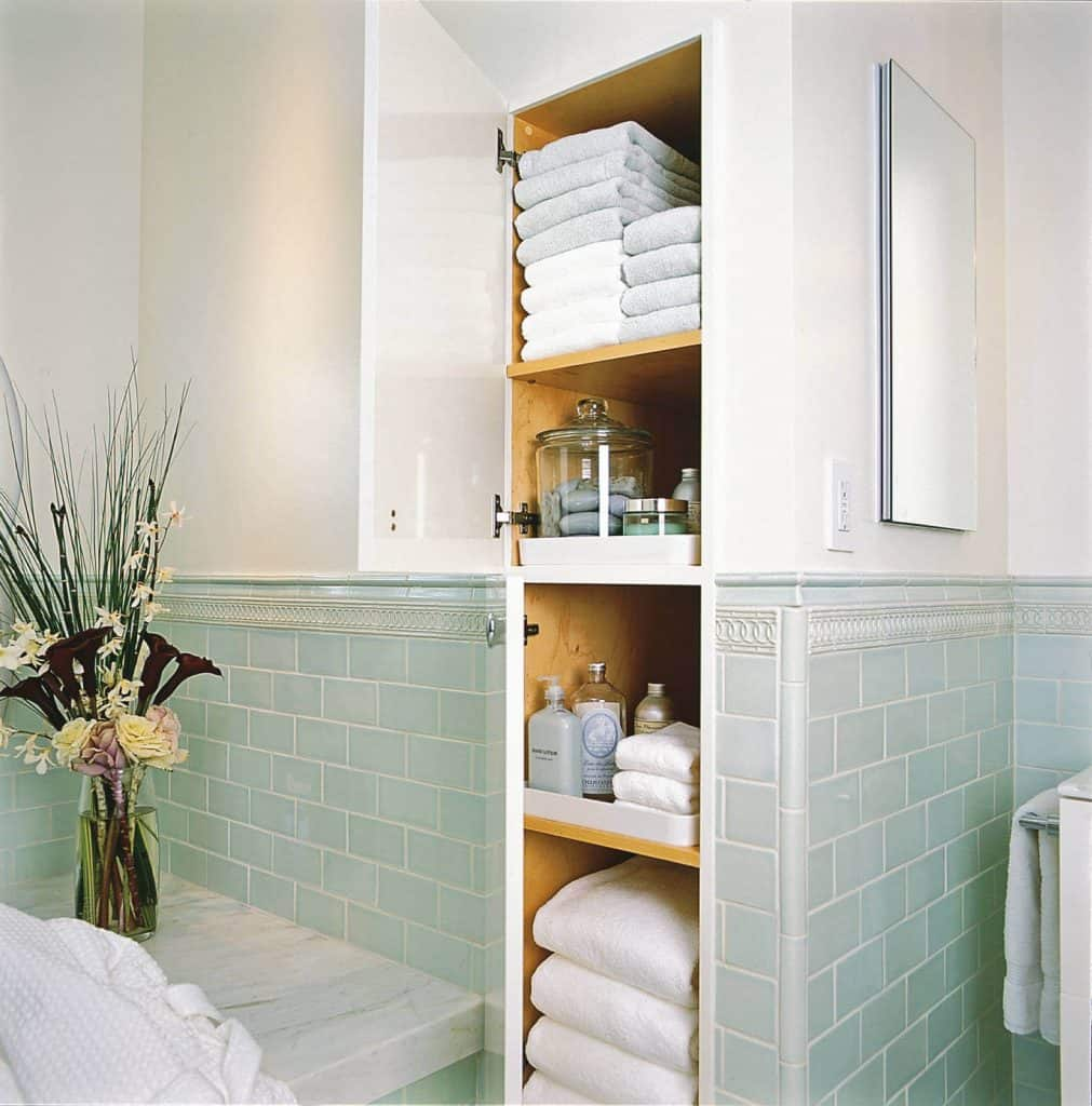 Tall Shelf Ideas for Towels