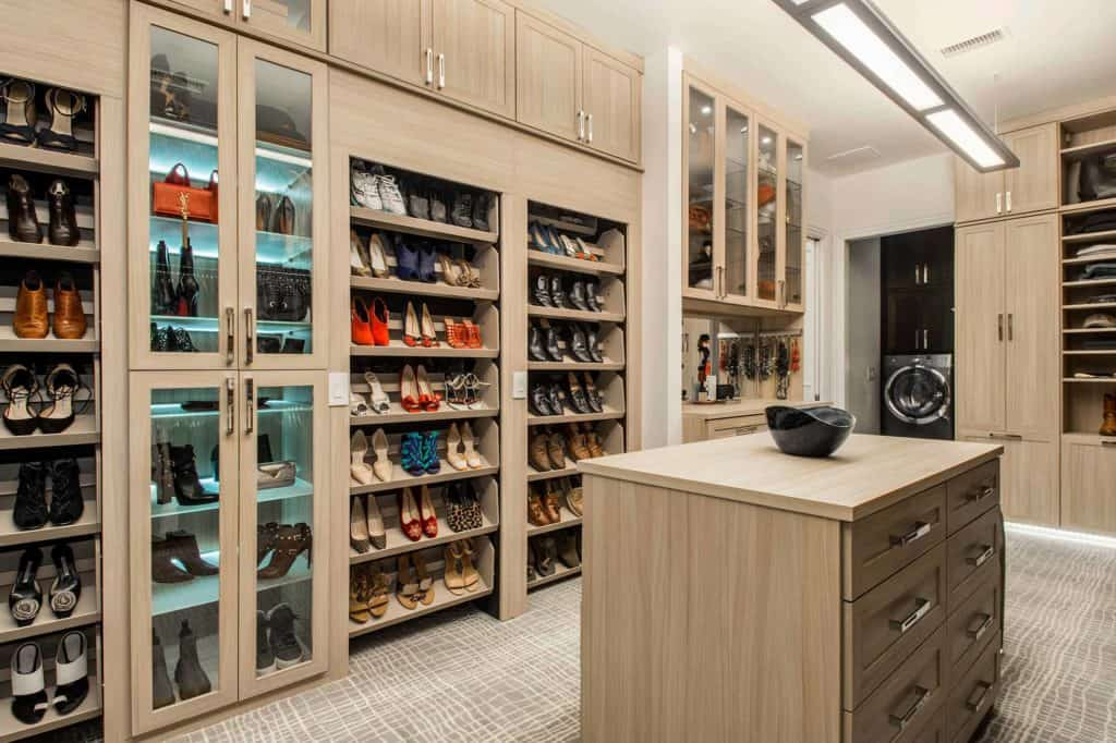 Shoe Rack and Glass Shoe Cabinets Combined