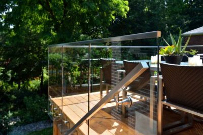 Glass Panel Railing Substitute