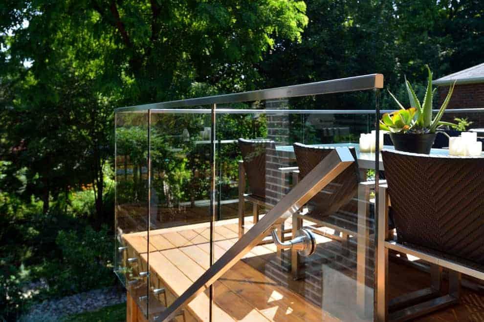 Glass Panel Railing Substitute