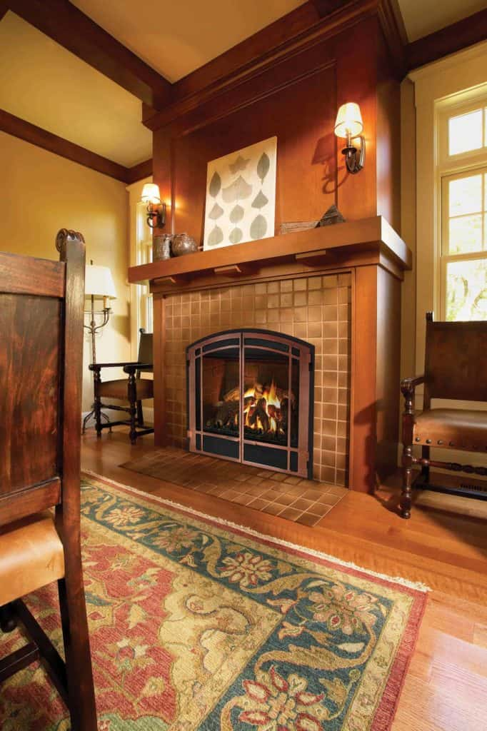 tiled fireplace ideas - It's Okay To Be Square