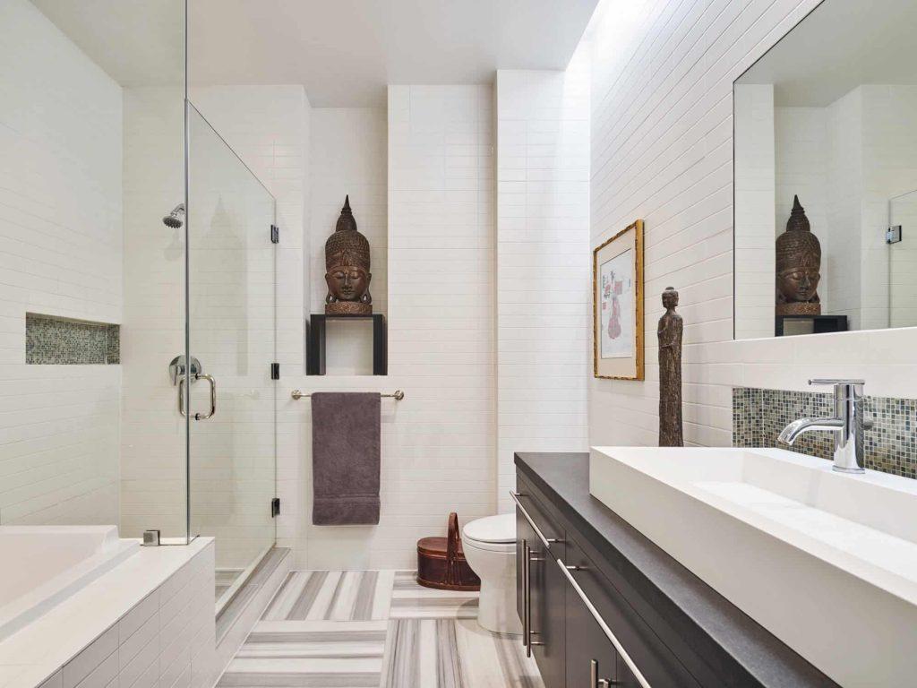 master multicolored tile bathroom design in Philadelphia